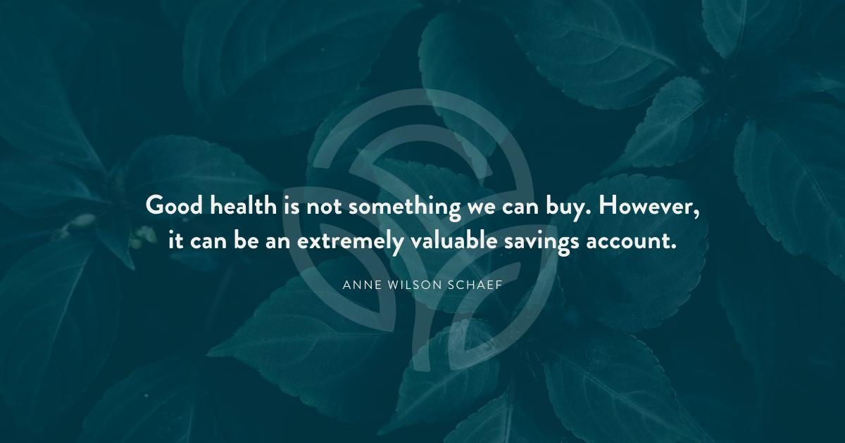 Good health is priceless